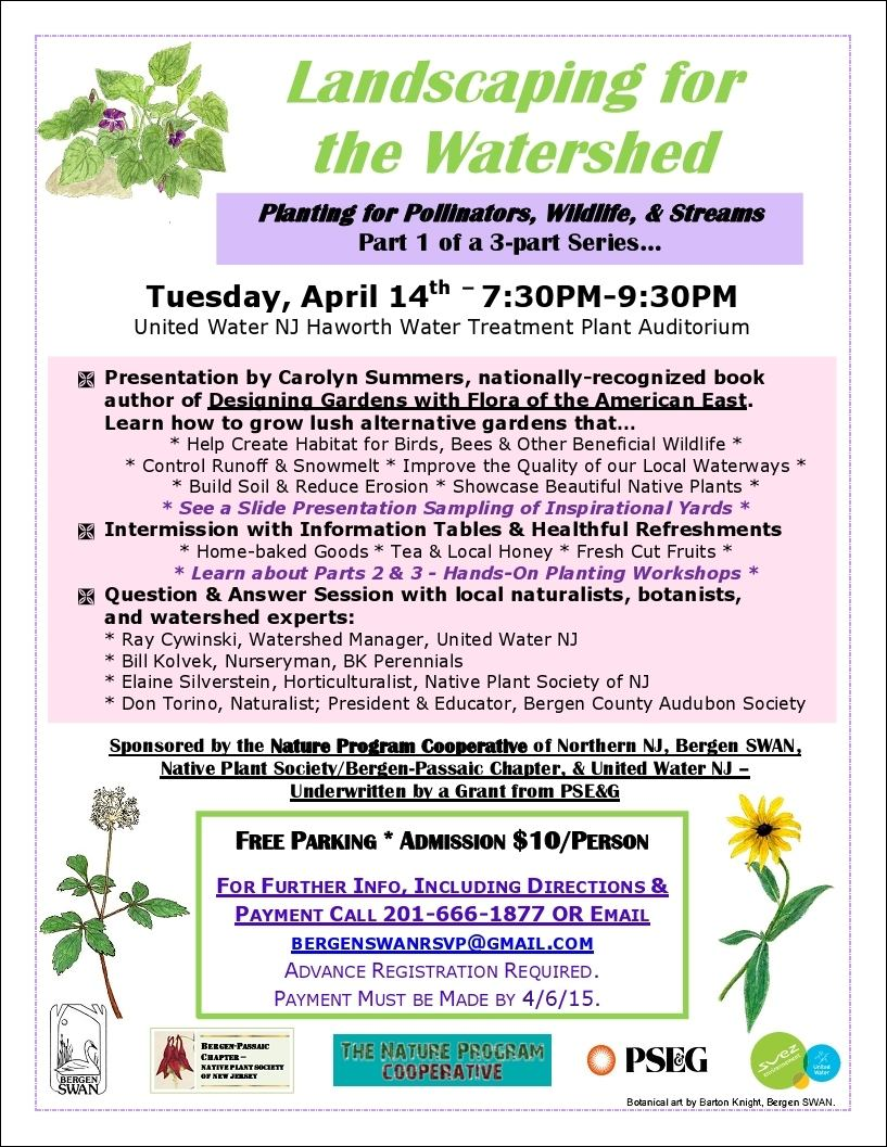 2015-04 Landscaping for the Watershed flyer