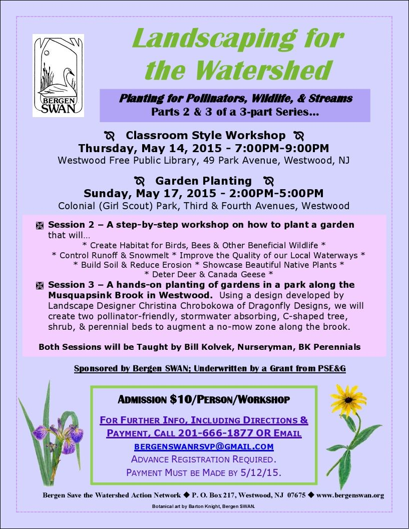 2015-05 Landscaping for the Watershed flyer